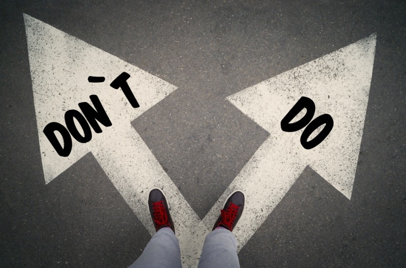 dos & dont's top tips for interviews