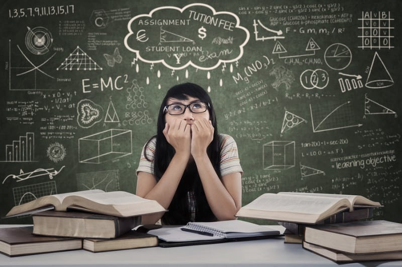 Student taking assessment