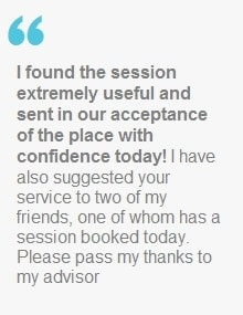 """I found the session extremely useful and sent in our acceptance of the place with confidence today!"
