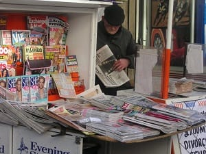 Newspaper vendor Paddington Station, London | The Good Schools Guide