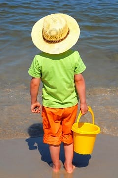 Boy at the beach