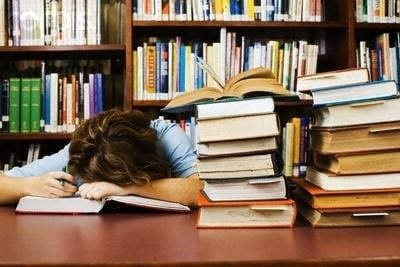 Falling asleep on books
