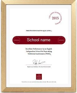 The Good Schols Guide Certificate