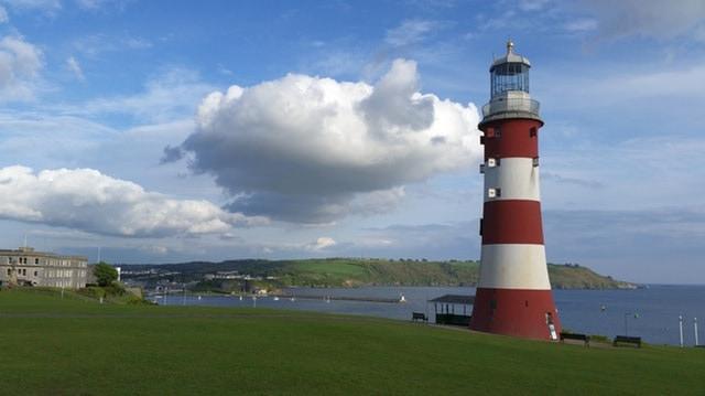 Lighthouse on UK beach