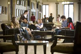 Students sitting