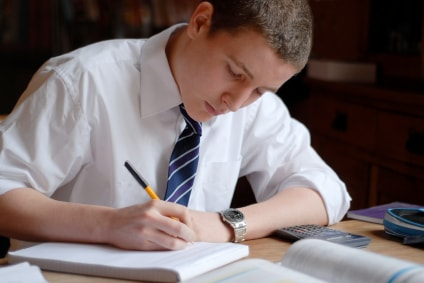 Secondary school boy